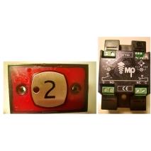 Compac D Engraved Pilot Push Red 1C 24V