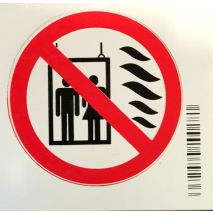 Sticker Forbidden EN81-73