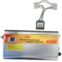 Inverter DC-AC 6 Poles 24V-230V 600W + FIlter