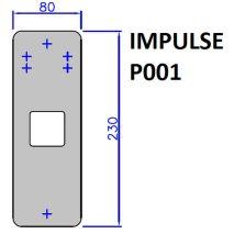 BOTONERA IMPULSE P001 80X230 (SOLO PLACA)
