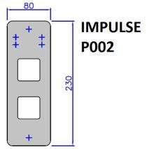 BOTONERA IMPULSE P002 80X230 (SOLO PLACA)