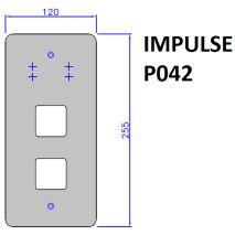 BOTONERA IMPULSE P042 120X255 (SOLO PLACA)