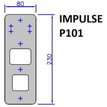 BOTONERA IMPULSE P101 80X230 (SOLO PLACA)