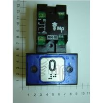 Compac Pushbutton Halo Bra Blue 1C 24V (0) Ti