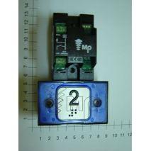 Compac Pushbutton Halo Bra Blue 1C 24V (2) Ti
