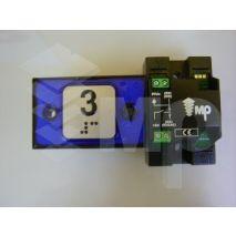 Compac Pushbutton Halo Bra Blue 1C 24V (3) Ti