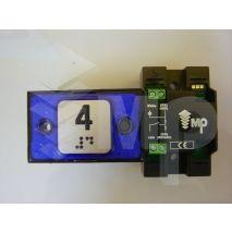 Compac Pushbutton Halo Bra Blue 1C 24V (4) Ti