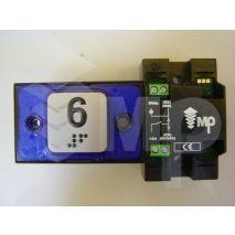 Compac Pushbutton Halo Bra Blue 1C 24V (6) Ti