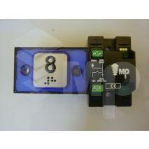 Compac Pushbutton Halo Bra Blue 1C 24V (8) Ti