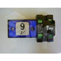 Compac Pushbutton Halo Bra Blue 1C 24V (9) Ti