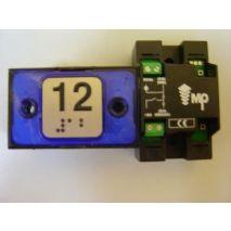COMPAC BUTTON HALO BRA BLUE 1C 24V (12) TI