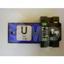Compac Pushbutton Halo Bra Blue 1C 24V (U) Ti