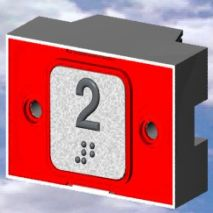 Compac Pushbutton Overinjeted Red 24V Exc Mp