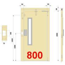 PUERTA SEMI PBS 800-I (95-99-95) 75X185