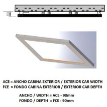 Ceiling ACxFC< 1.78 M2 L10 Inox X12 H=80
