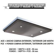 Ceiling ACxFC< 1.78 M2 L40 Inox X12 (4 HAL) H=80