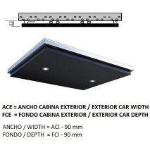 Ceiling ACxFC< 1.06 M2 L40 KOLORO (2 HAL) H=80