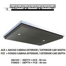 Ceiling Acxfc< 1.06 M2 L40 Platinum K41 (2 Hal) H=80