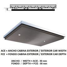 Ceiling ACxFC< 1.06 M2 L40 Inox X12 (2 HAL) H=80