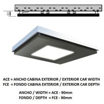 Plafond ACxFC< 1.06 M2 L95 SLIM PLATINUM K41 H=80