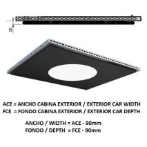 Ceiling ACxFC< 1.78 M2 L96 SLIM KOLORO H=25