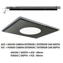 Ceiling ACxFC< 1.78 M2 L96 SLIM PLATINUM K41 H=25