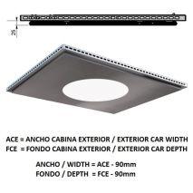 Ceiling ACxFC< 1.78 M2 L96 SLIM Inox X12 H=25