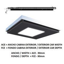 Ceiling ACxFC< 1.06 M2 L97 SLIM KOLORO H=25