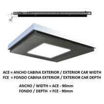 Ceiling ACxFC< 1.78 M2 L97 SLIM PLATINUM K41 H=25