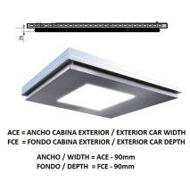 Ceiling Acxfc< 1.78 M2 L97 Slim Inox X12 H=25