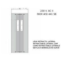 PUERTA CABINA BUS PL-700-2000 INOX C/LEVA LAT